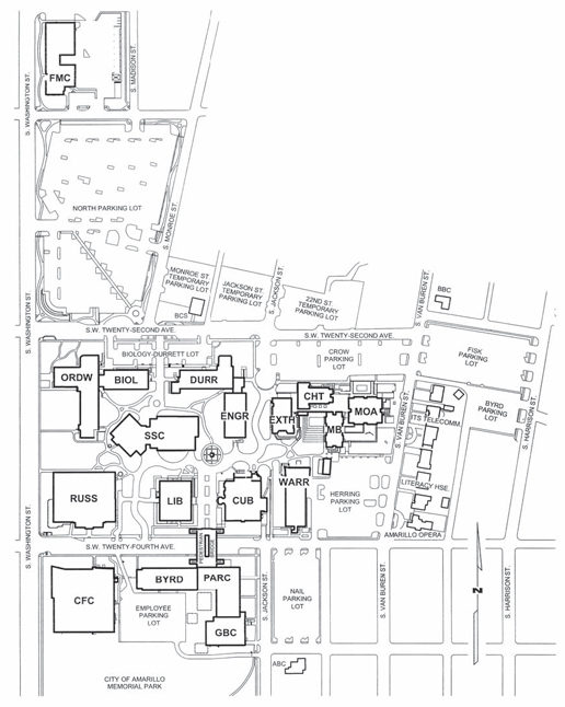 Campus Maps Amarillo College Acalog ACMS